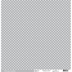 Cartoncino petits pois - Gris