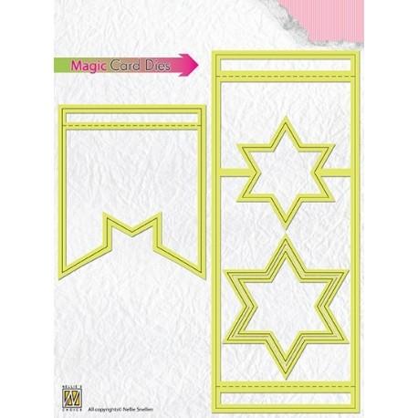 Fustella Magic Card Die  - Nellie Snellen - Star