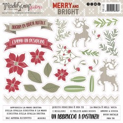 Stickers ModaScrap - MERRY AND BRIGHT