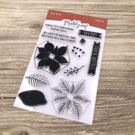 Timbro Clear ModaScrap Clear Stamps - CHRISTMAS FLOWER