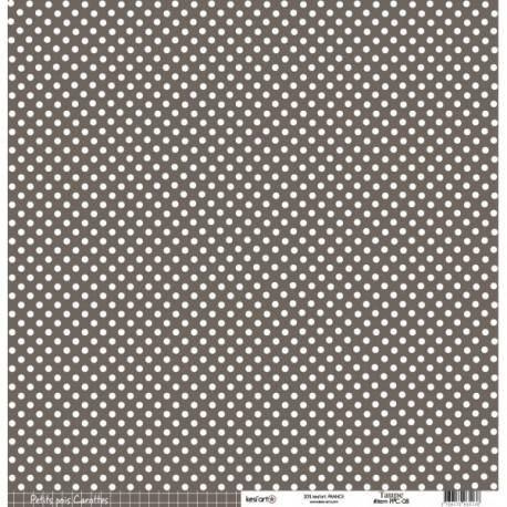 Cartoncino petits pois - Taupe