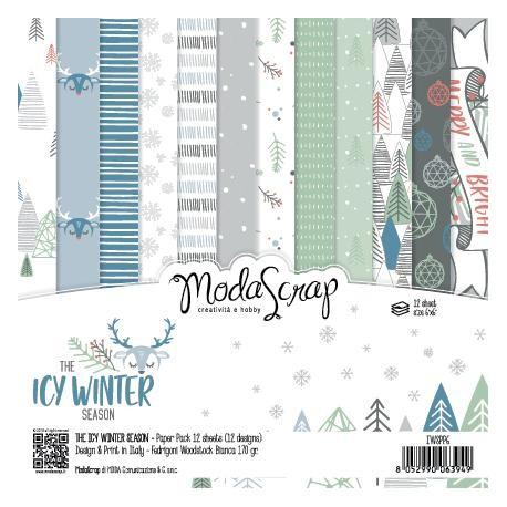 """Pad Carte 6"""" x 6""""  ModaScrap - THE ICY WINTER SEASON"""