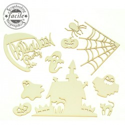 Abbellimenti in cartone vegetale Scrapbooking Facile - HALLOWEEN, la casa dei fantasmi