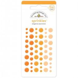Sprinkles Enamel Dots Doodlebug Design - Tangerine