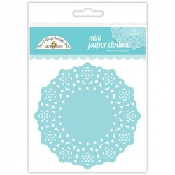 Ricami in Carta Doodlebug - Mini Paper Doilies - Swimming Pool