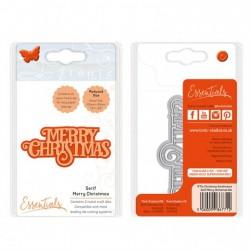 Fustella Tonic Studios - Merry Christmas serif