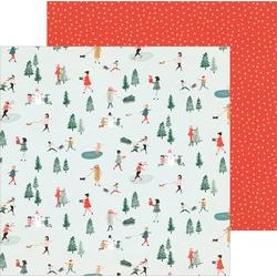 "Crate Paper 12"" x 12""  MERRY DAYS - Frosty Days"