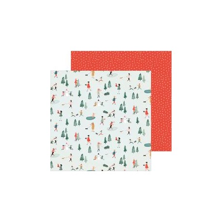 """Crate Paper 12"""" x 12""""  MERRY DAYS - Frosty Days"""