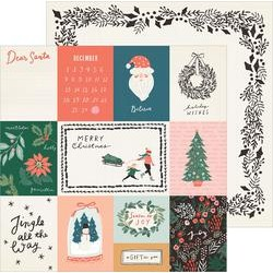 """Crate Paper 12"""" x 12""""  MERRY DAYS - Sleigh Ride"""
