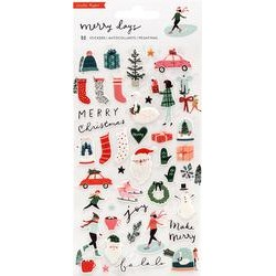 PUFFY STICKERS - MERRY DAYS - Crate Paper