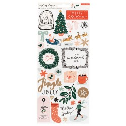 CARDSTOCK STICKERS - MERRY DAYS - Crate Paper