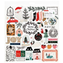 CHIPBOARD STICKERS - MERRY DAYS - Crate Paper