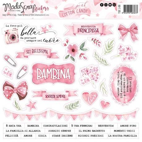 Stickers ModaScrap - PINK COTTON CANDY