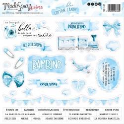 Stickers ModaScrap - BLUE COTTON CANDY