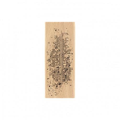 Timbro legno Florileges - TEXTE MOUCHETÉ