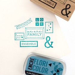 Timbro legno Florileges - WE ARE FAMILY