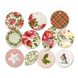 PIATEK13 - Rosy Cosy Christmas - Decorative Tags 01