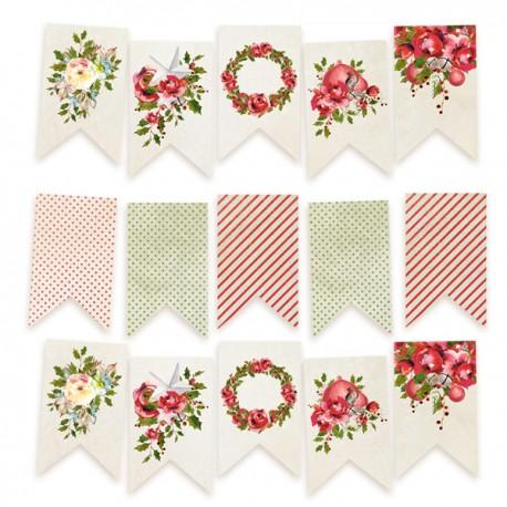 PIATEK13 - Rosy Cosy Christmas - Paper die cut garland