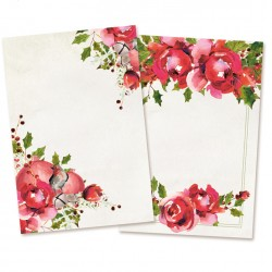 PIATEK13 - Rosy Cosy Christmas - Set of cards 6x4""