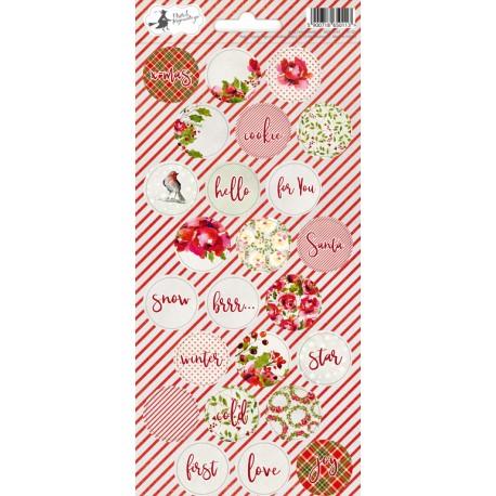 PIATEK13 - Rosy Cosy Christmas - Stickers 03