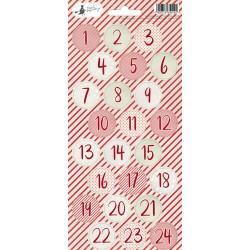 PIATEK13 - Rosy Cosy Christmas - Stickers 06