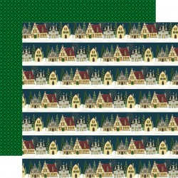 Carta Echo Park - Twas The Night Before Christmas - Christmas Cottage  Border Strips