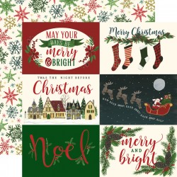 Carta Echo Park - Twas The Night Before Christmas - Horizontal 4x6  Journaling Cards