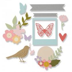 Fustella Sizzix Thinlits - Floral Banner