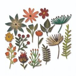 Fustella Sizzix Thinlits - Funky Floral 3