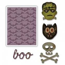 Fustella Sizzix Sidekick Side Tim Holtz - Order Set - Halloween
