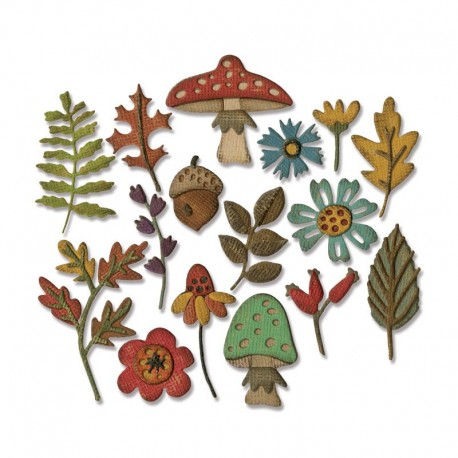 Fustella Sizzix Thinlits - Funky Foliage