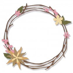 Fustella Sizzix Thinlits - Pretty Wreath