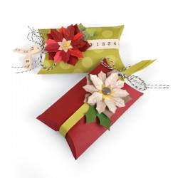 Fustella Sizzix Thinlits - Pillow Box & Poinsettias