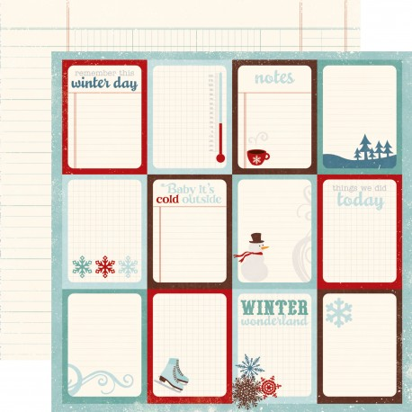 Carta Echo Park - Winter Time - JOURNALING CARDS