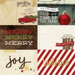 Carta Simple Stories Cozy Christmas - 4x6 Horizontal Elements 1