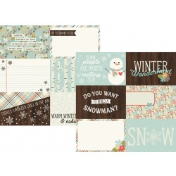 Carta Simple Stories Winter Wonderland - Horizontal Journaling Elements