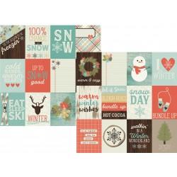 Carta Simple Stories Winter Wonderland - 3x4 Journaling Card Elements