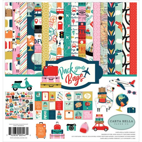 Kit carte Carta Bella - Pack Your Bags Collection Kit