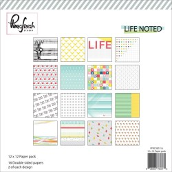 "Kit Carte - Paper Pack 12""x12"" - Pink Fresh Studio - Life Noted Collection"