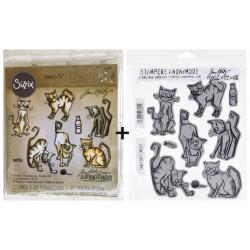 Bundle Fustelle e Timbri coordinati Tim Holtz - Crazy Cats