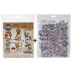 Bundle Fustelle e Timbri coordinati Tim Holtz - Crazy Dogs