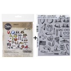 Bundle Fustelle e Timbri coordinati Tim Holtz - Crazy Things
