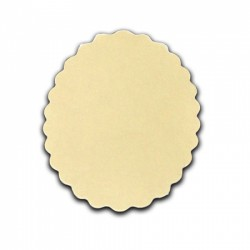 Die Cut Scallop Oval Shapes - 15 pezzi - Cream - Stx2