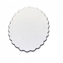 Die Cut Scallop Oval Shapes - 15 pezzi - Bianco - Stix2