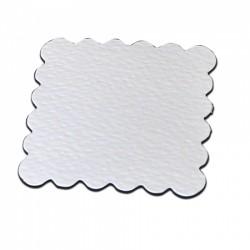 Die Cut Scallop Square Shapes - 15 pezzi - Bianco - Stix2