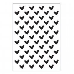 Vaessen Creative • Love It Embossing Folder A6 - HEARTS
