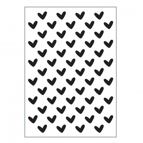 Vaessen Creative • Love It Embossing Folder A6 - HEARTS