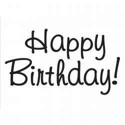 Embossing Folder Darice - Happy Birthday