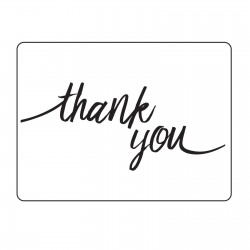 Embossing Folder Darice - Thank You