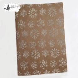 PIATEK13 - Snowflakes (kraft) - Art journal A5